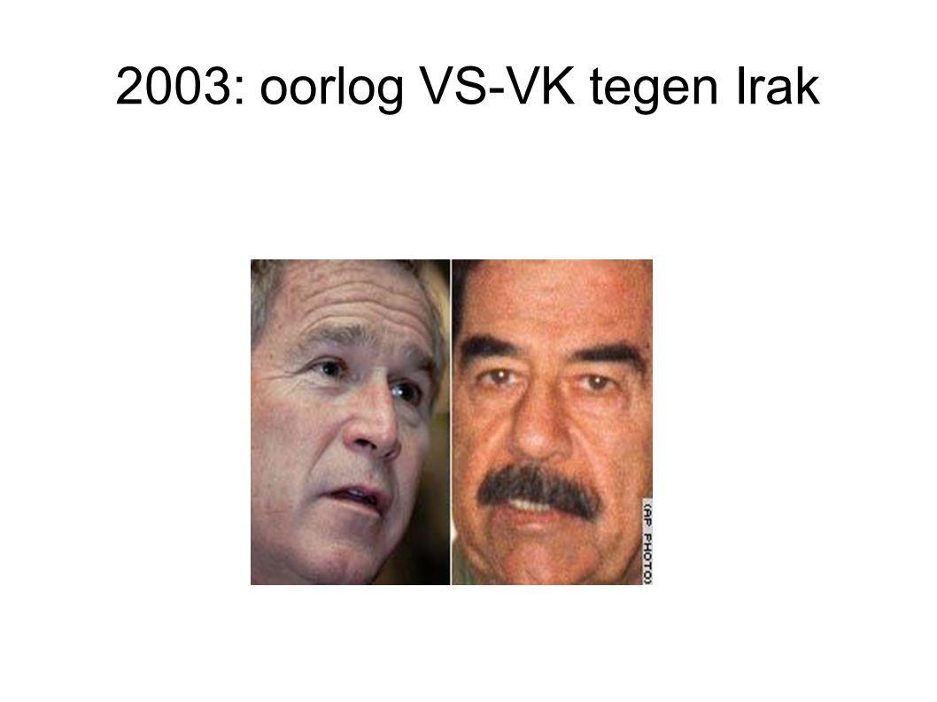 2003: oorlog VS-VK tegen Irak