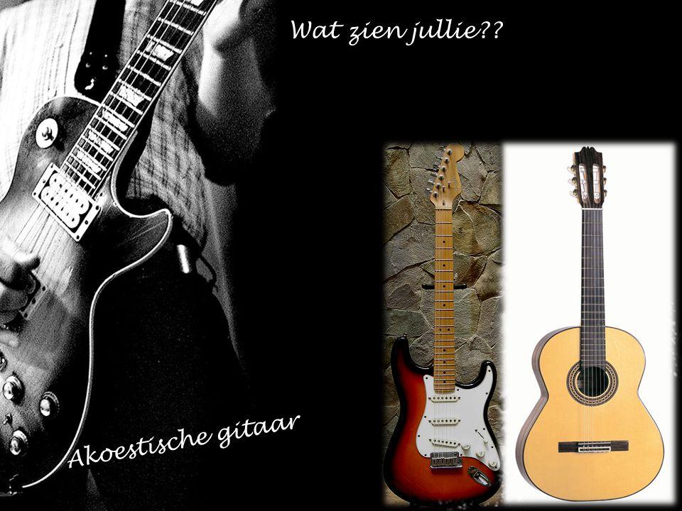 Akoestische gitaar Wat zien jullie??