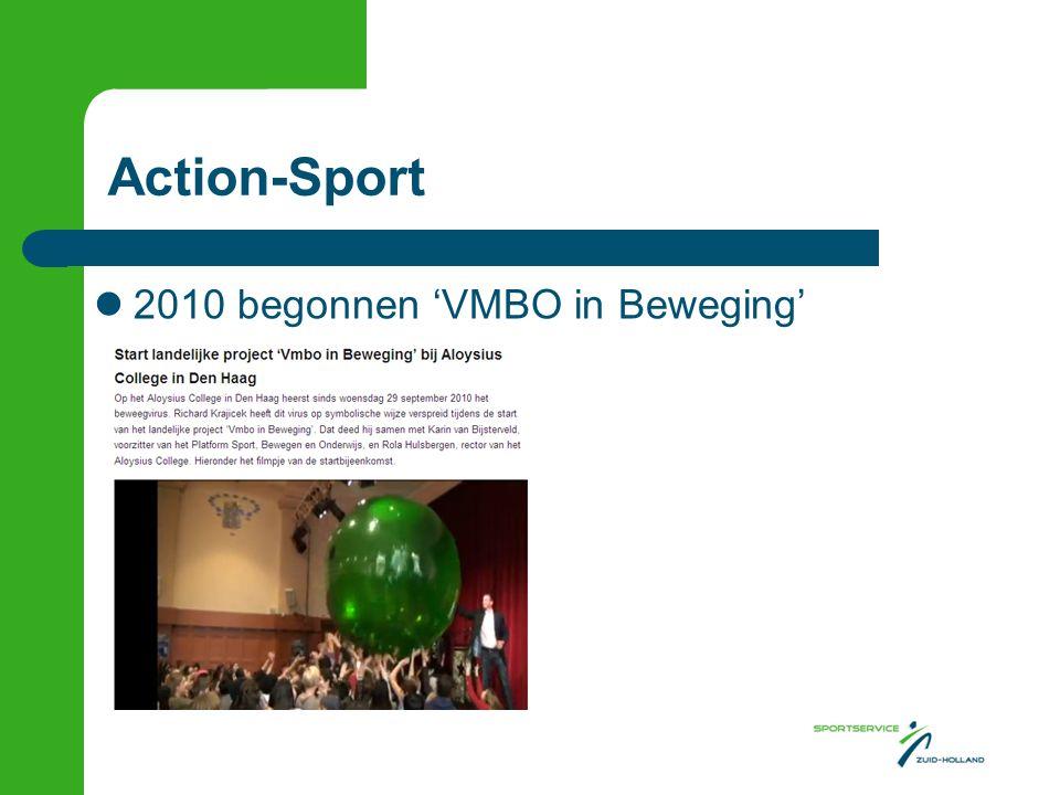 Action-Sport  2010 begonnen 'VMBO in Beweging'
