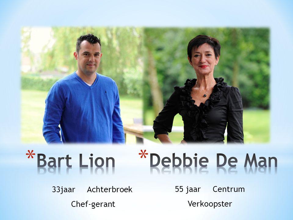 33jaar Achterbroek Chef-gerant 55 jaar Centrum Verkoopster