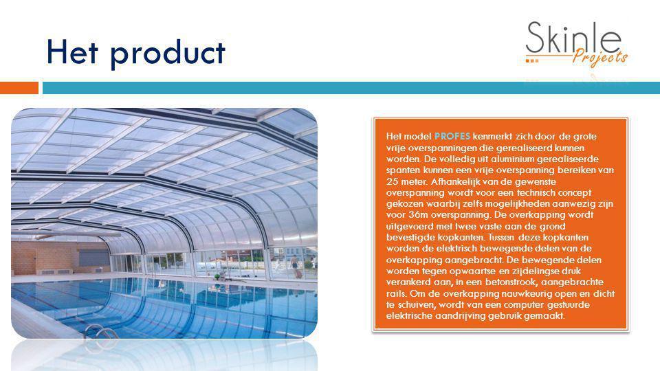 Het product Het model PROFES kenmerkt zich door de grote vrije overspanningen die gerealiseerd kunnen worden. De volledig uit aluminium gerealiseerde