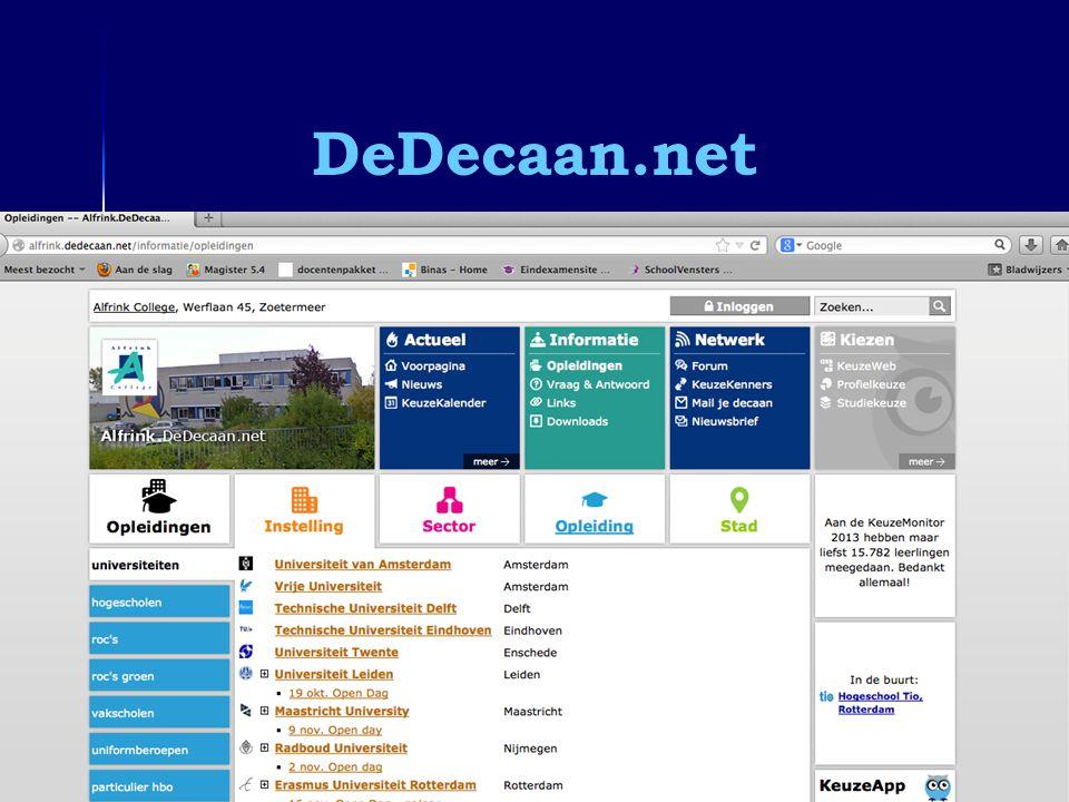 DeDecaan.net Informatieavond 6vwo