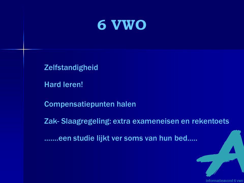 6 VWO Zelfstandigheid Hard leren.