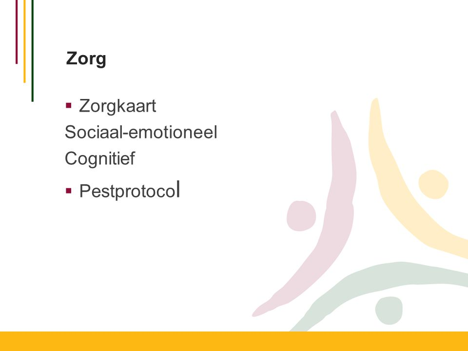 Zorg  Zorgkaart Sociaal-emotioneel Cognitief  Pestprotoco l