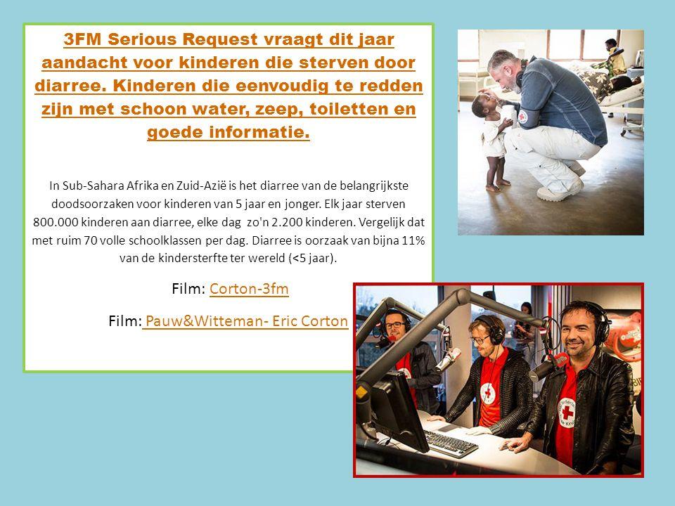 3FM Serious Request vraagt dit jaar aandacht voor kinderen die sterven door diarree.
