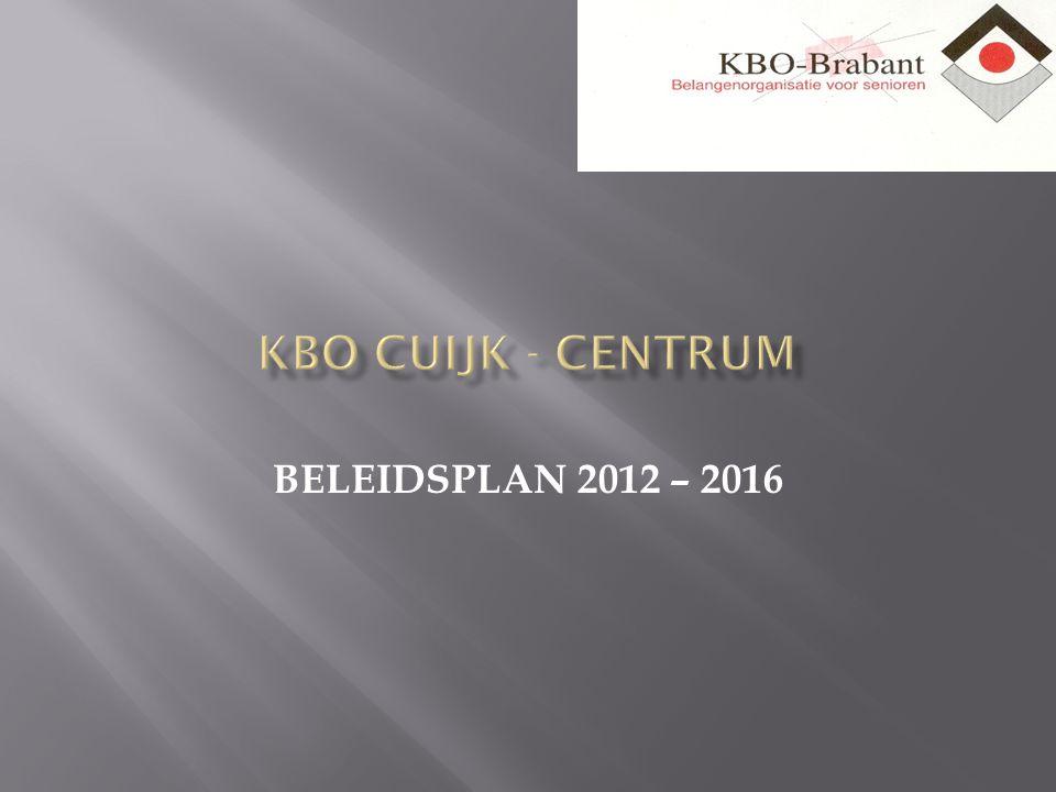 BELEIDSPLAN 2012 – 2016