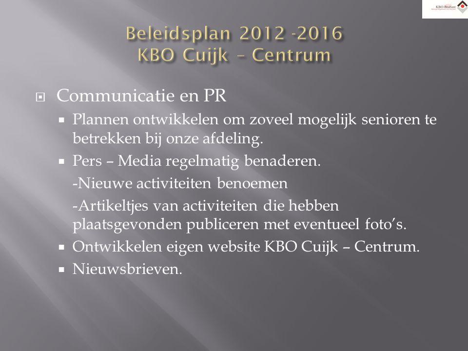  Scholing  Cursus aanbod KBO Brabant volgen.