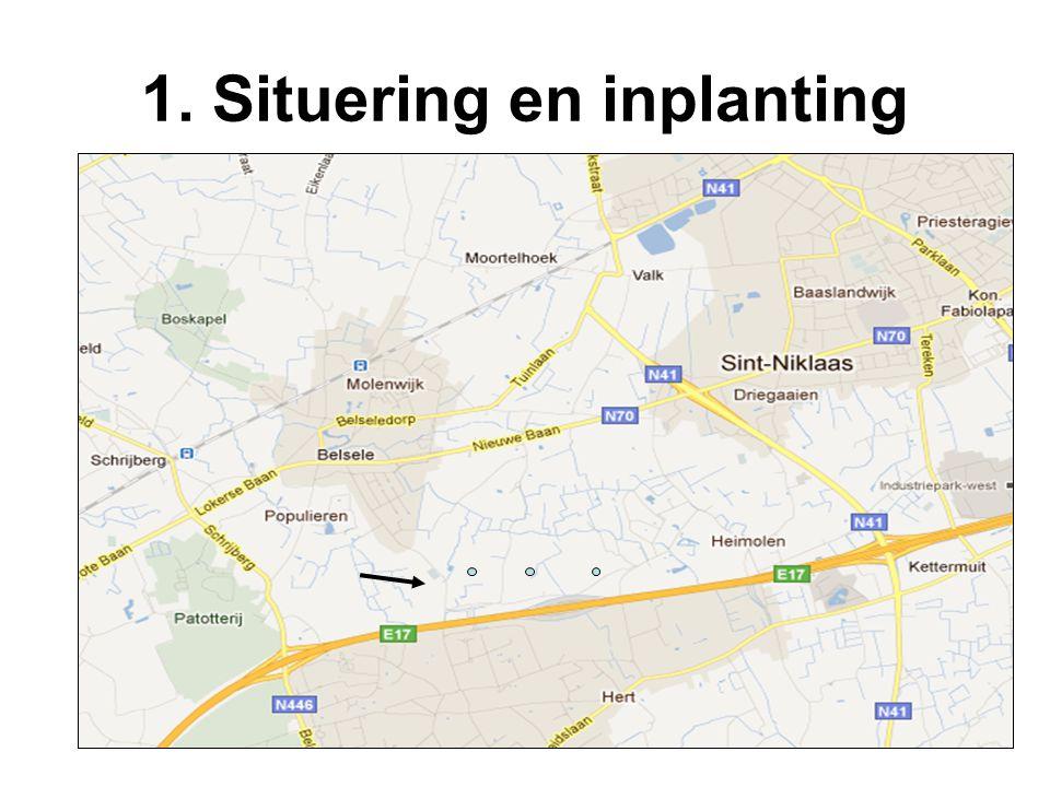 1. Situering en inplanting