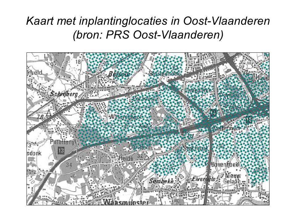 Situering van het project op een topografische kaart