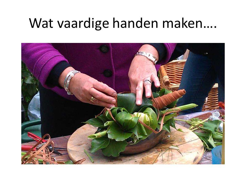 Wat vaardige handen maken….
