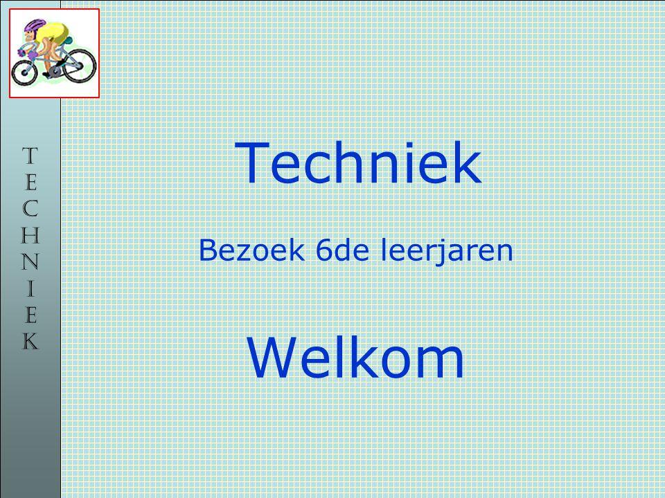 TECHNIEKTECHNIEK Techniek Bezoek 6de leerjaren Welkom