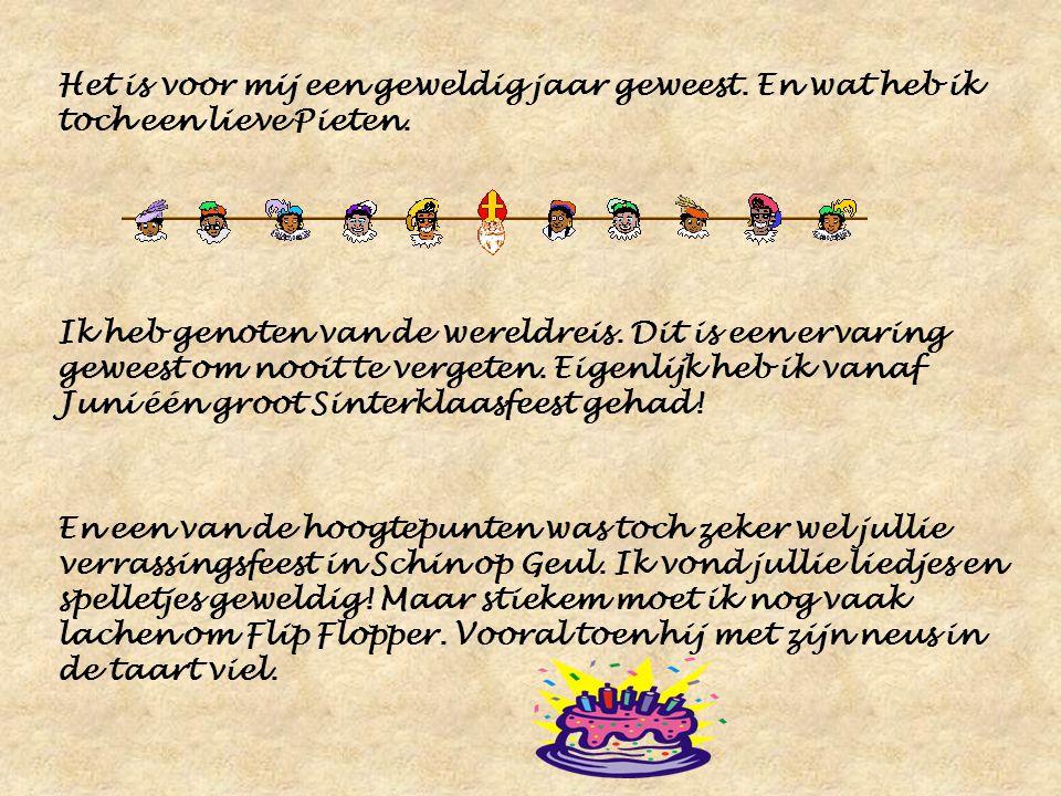 Dag 13 van het dagboek Hallo lieve kinderen, Dit is dan alweer de laatste dag van het dagboek. En wel een hele speciale. Dit keer wil ik… Sinterklaas…