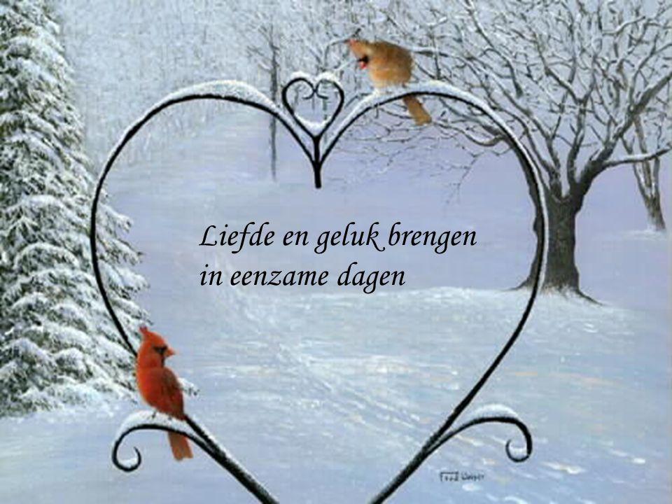 Liefde en geluk brengen in eenzame dagen
