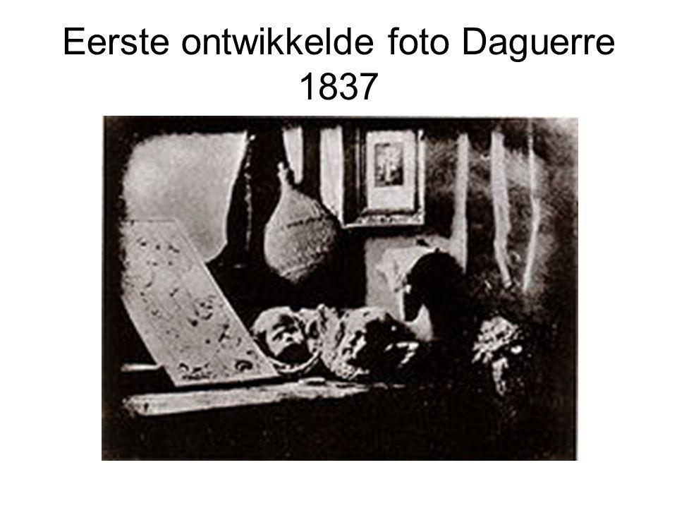 Eerste ontwikkelde foto Daguerre 1837