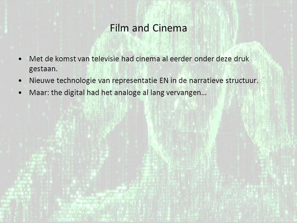 The Digital: What is cinema.