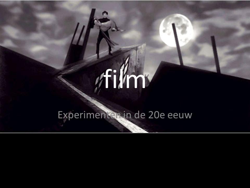 film Experimenten in de 20e eeuw
