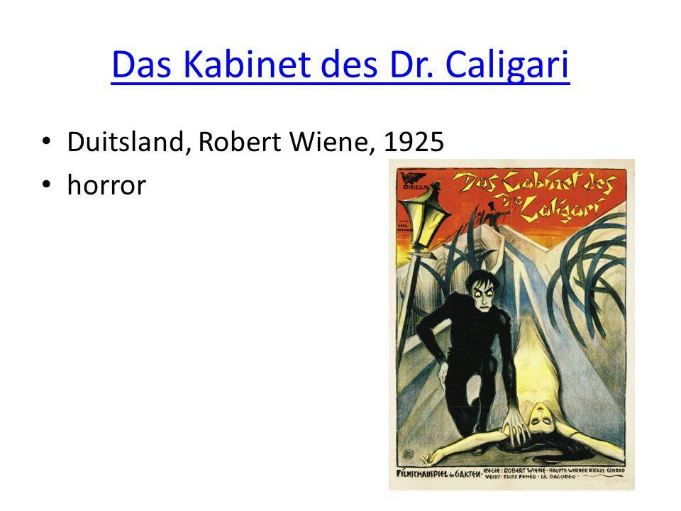Das Kabinet des Dr. Caligari • Duitsland, Robert Wiene, 1925 • horror