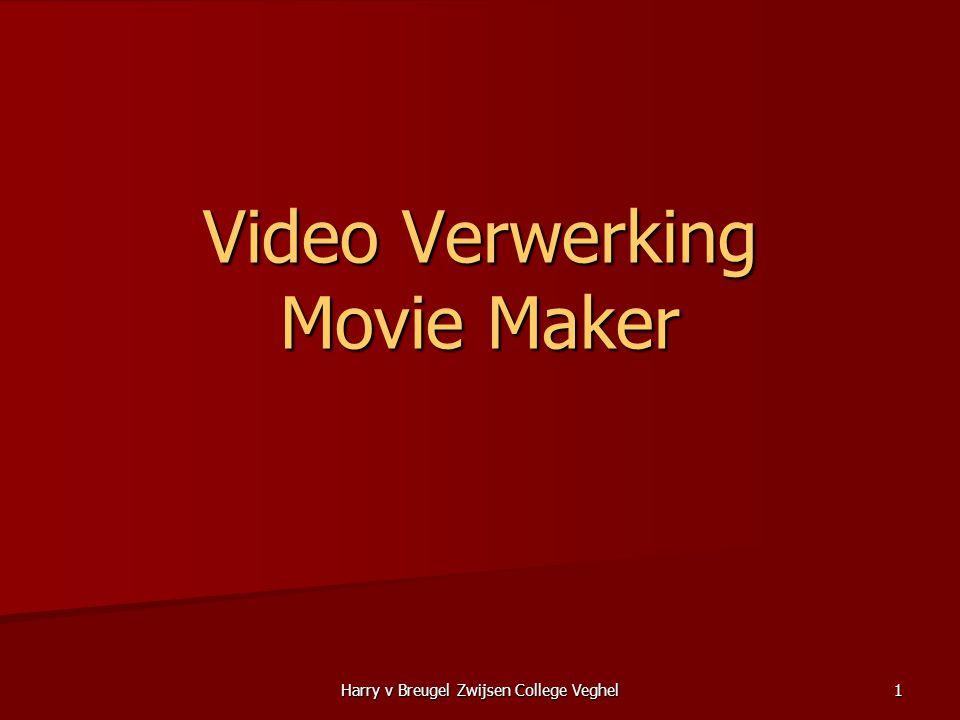 Harry v Breugel Zwijsen College Veghel12 Moviemaker Software  Film / Video importeren –De binnengehaalde videobestanden worden geanalyseerd en in opname-fragmenten verdeeld.