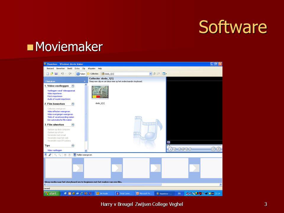 Harry v Breugel Zwijsen College Veghel3 Software  Moviemaker