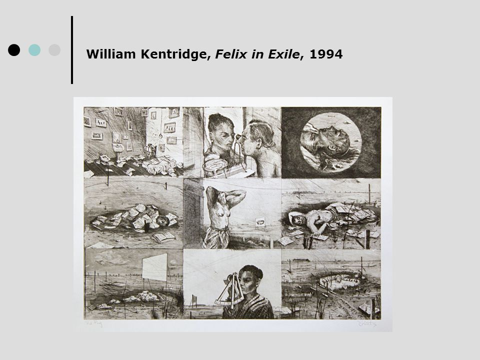 William Kentridge, Felix in Exile, 1994