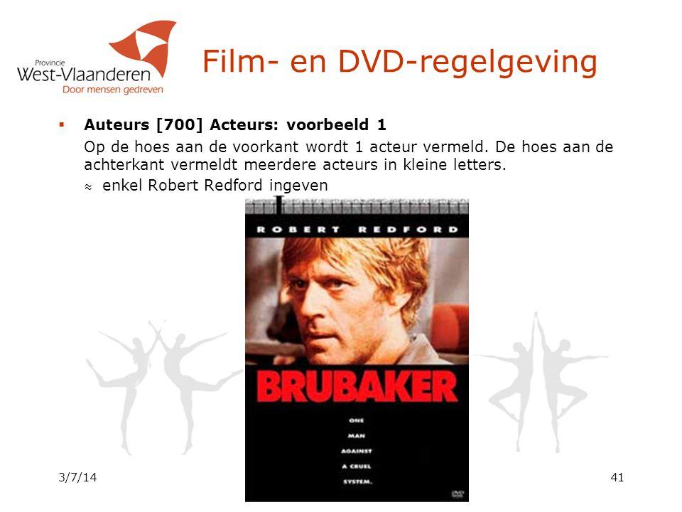 Dienst Cultuur - WINOB  Auteurs [700] Acteurs: voorbeeld 1 Op de hoes aan de voorkant wordt 1 acteur vermeld.