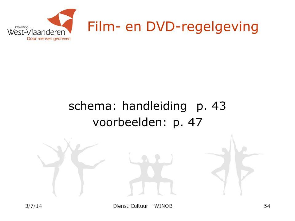 3/7/14Dienst Cultuur - WINOB54 schema: handleiding p.