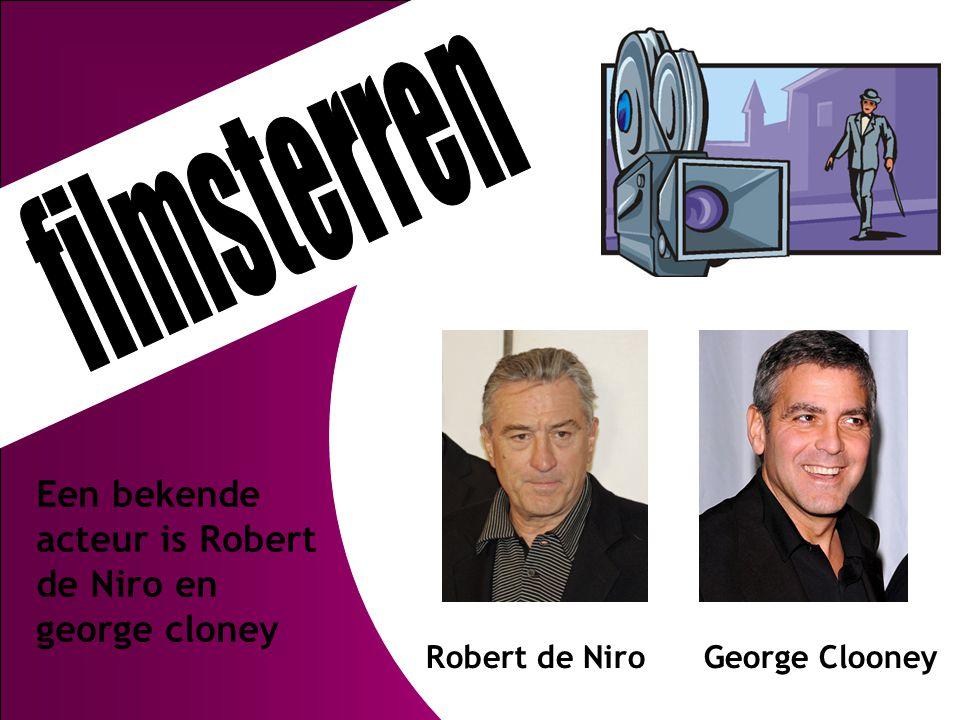 Een bekende acteur is Robert de Niro en george cloney Robert de Niro George Clooney