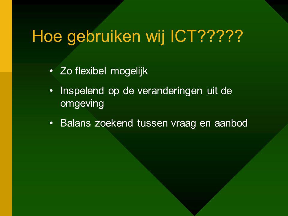 Hoe gebruiken wij ICT????.