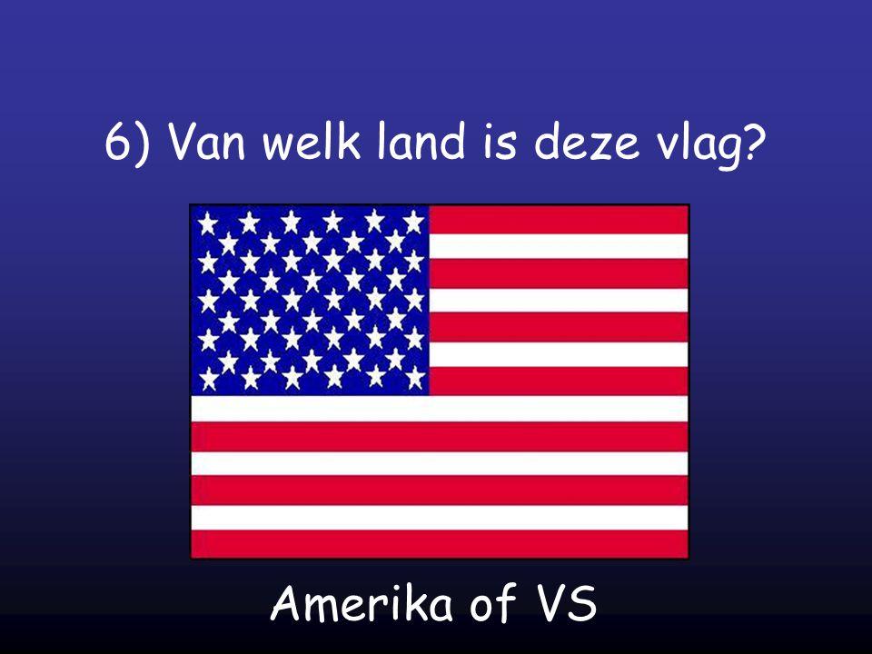 6) Van welk land is deze vlag? Amerika of VS