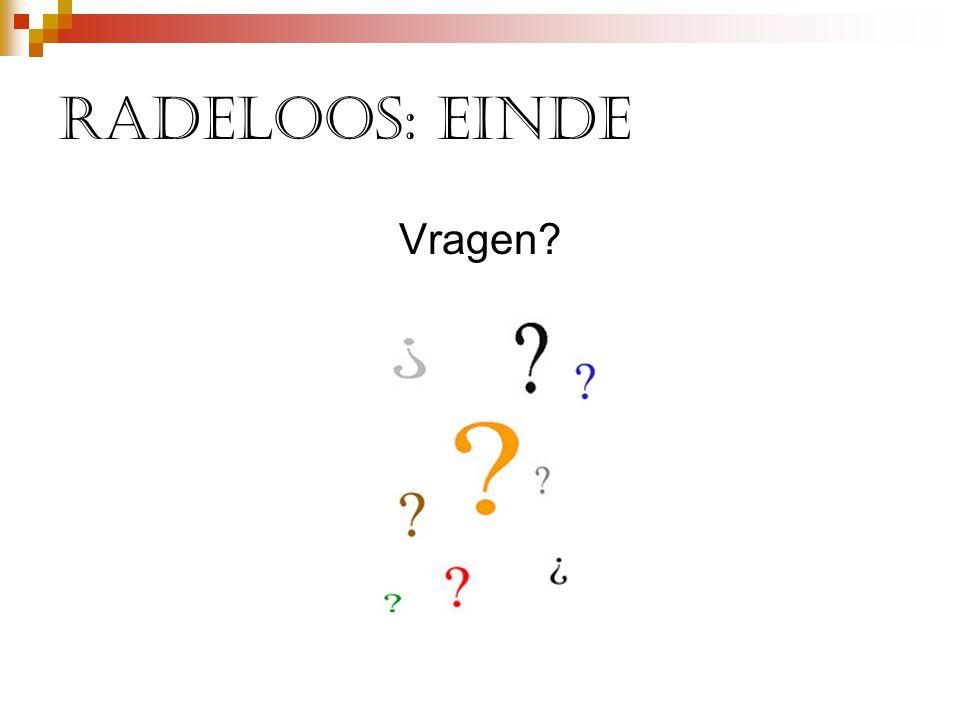 Radeloos: einde Vragen?