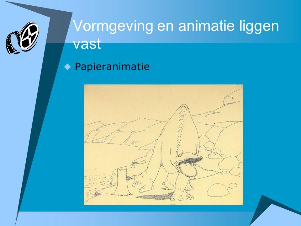Vormgeving en animatie liggen vast  Papieranimatie
