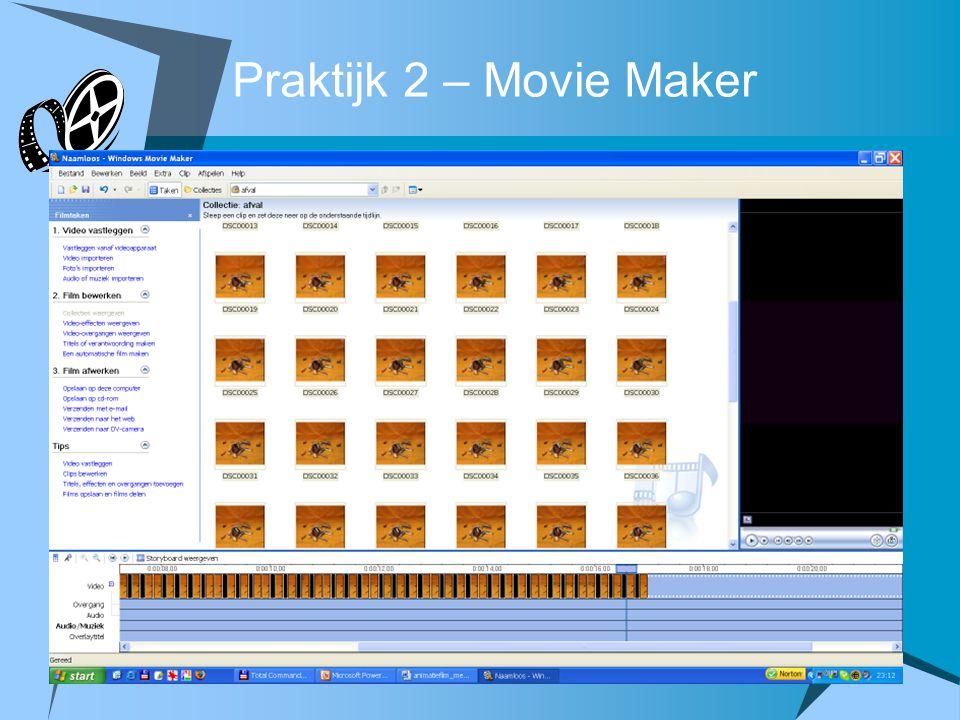 Praktijk 2 – Movie Maker