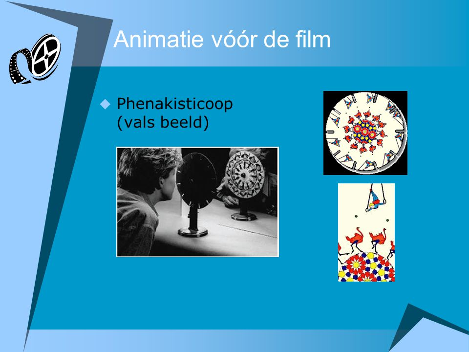 Animatie vóór de film  Phenakisticoop (vals beeld)