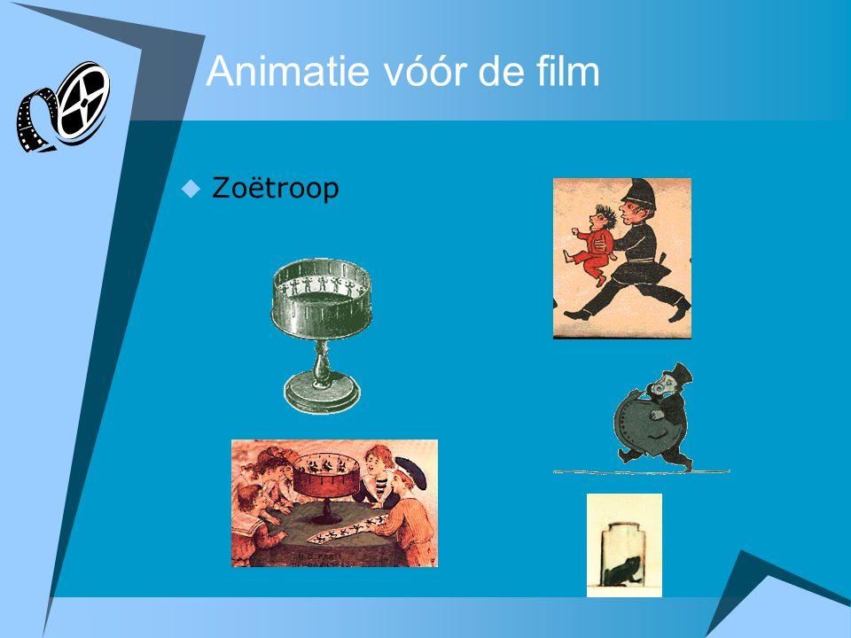 Animatie vóór de film  Zoëtroop