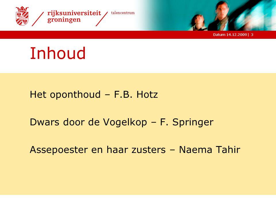 |Datum 14.12.2009 talencentrum F.