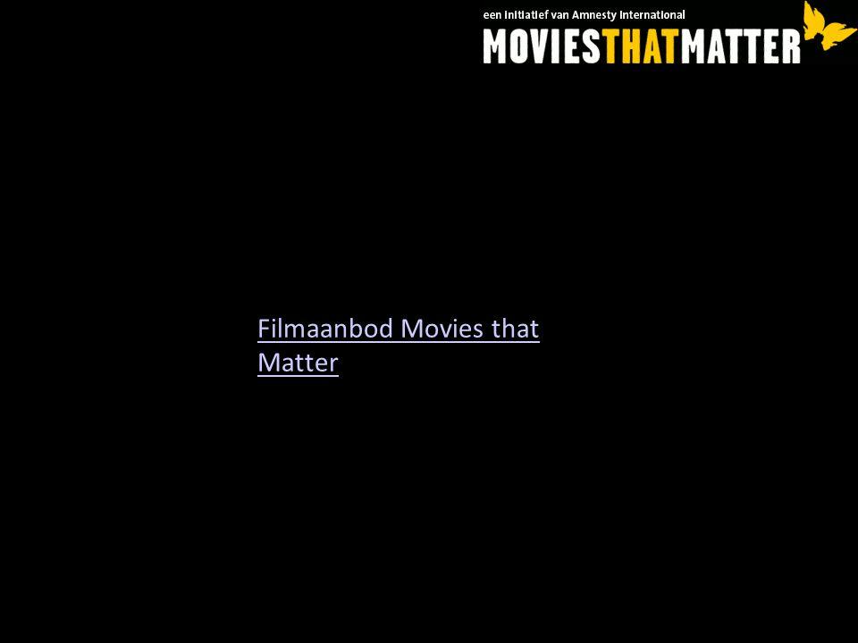 Filmaanbod Movies that Matter