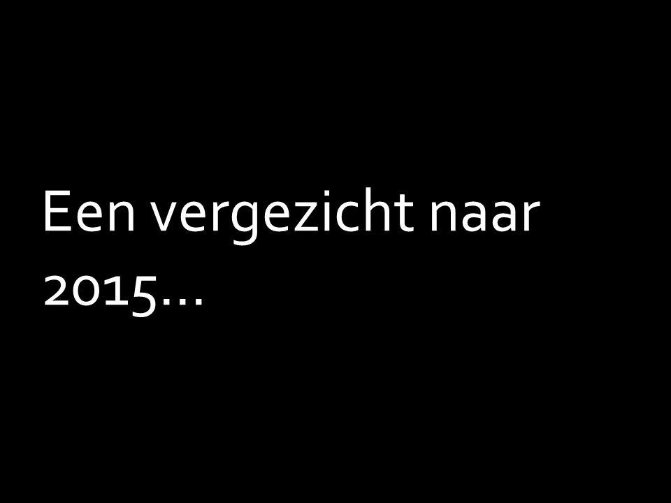 Een vergezicht naar 2015...