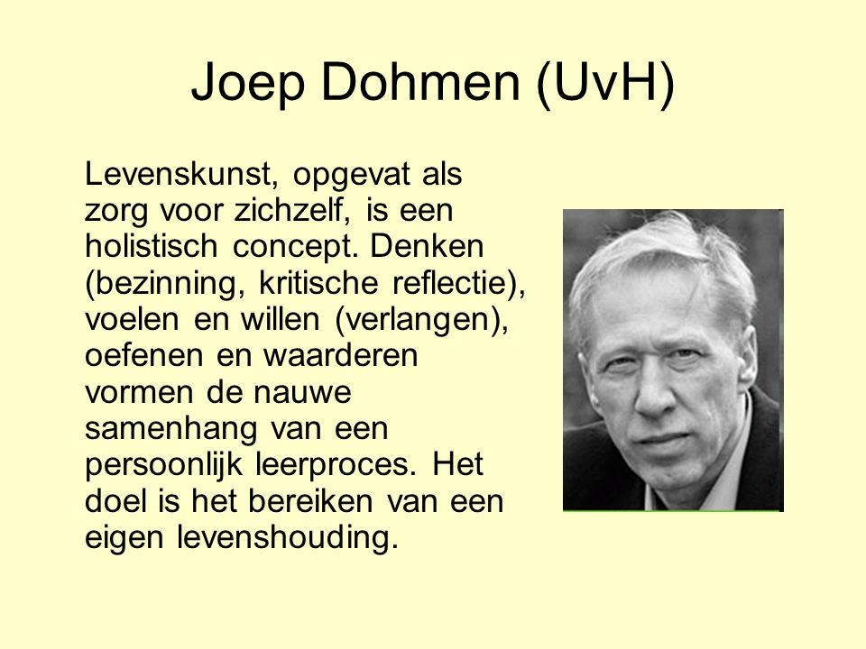Joep Dohmen (UvH) Levenskunst, opgevat als zorg voor zichzelf, is een holistisch concept.