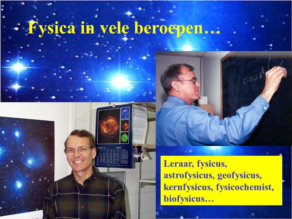Fysica in vele beroepen… Ingenieur, technoloog,…