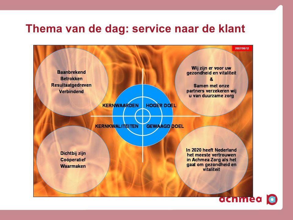 Thema van de dag: service naar de klant