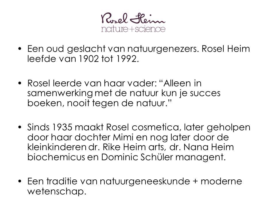 •Een oud geslacht van natuurgenezers. Rosel Heim leefde van 1902 tot 1992.