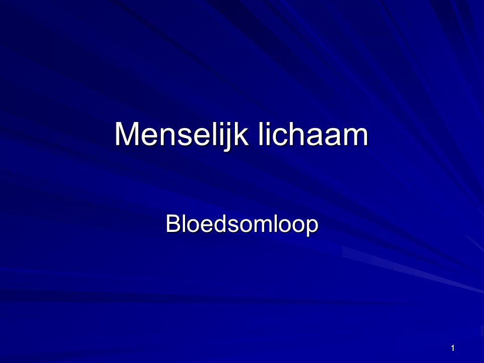 1 Menselijk lichaam Bloedsomloop