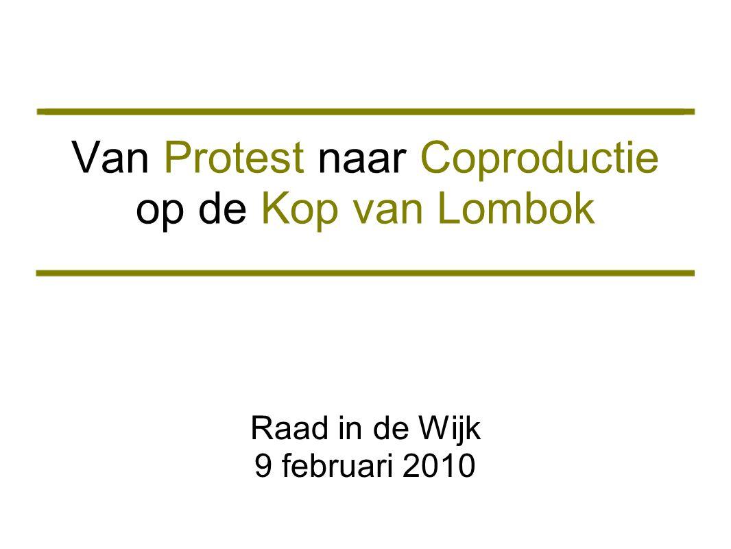 Van Protest naar Coproductie op de Kop van Lombok Raad in de Wijk 9 februari 2010