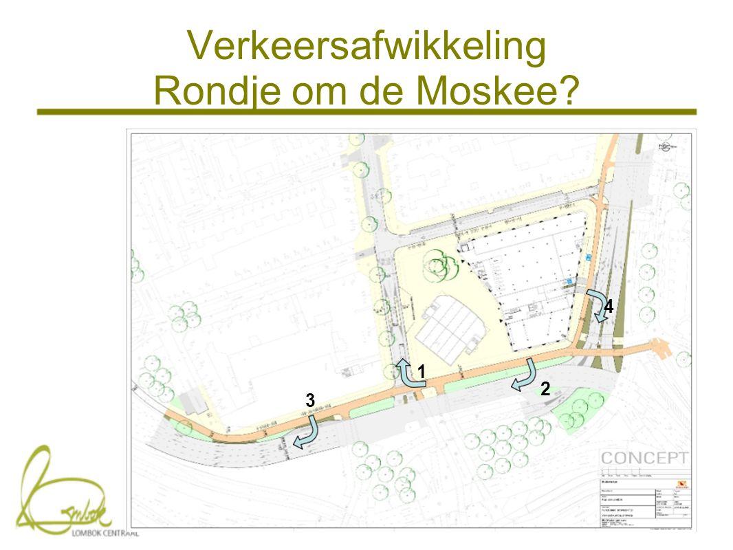 Verkeersafwikkeling Rondje om de Moskee 1 2 4 3