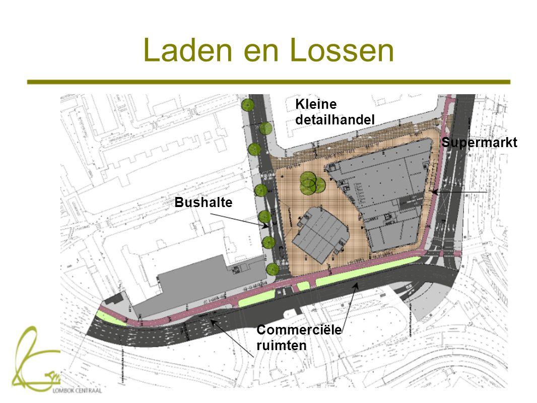 Laden en Lossen Supermarkt Commerciële ruimten Kleine detailhandel Bushalte