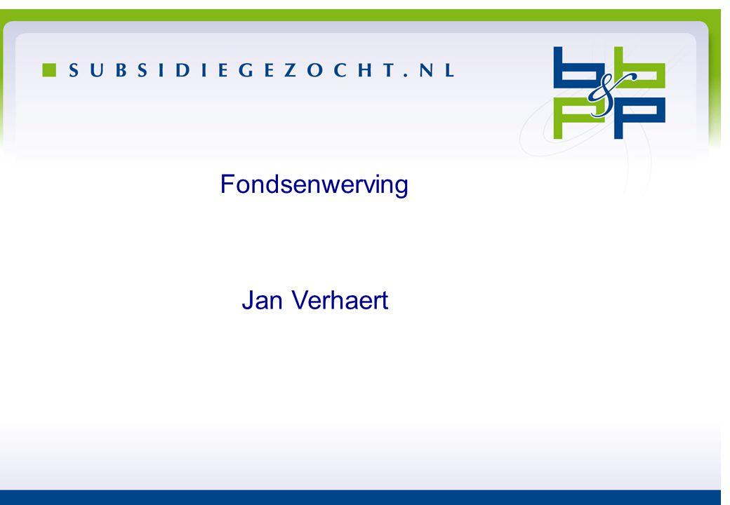 Fondsenwerving Jan Verhaert