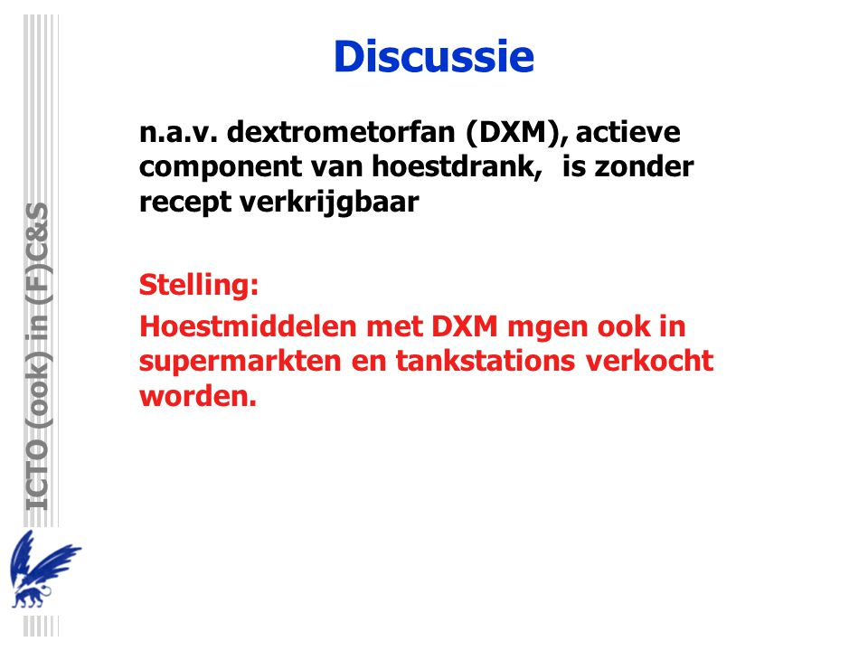 ICTO (ook) in (F)C&S Discussie n.a.v.