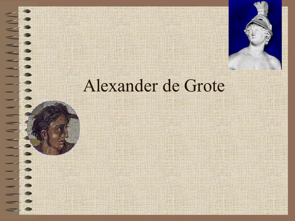 opleiding •Aristoteles (384-322) •Belangrijk Grieks denker •Leermeester Alexander