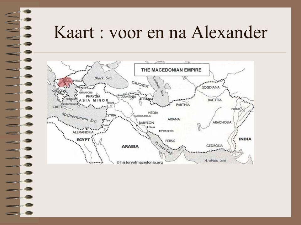 Kaart : voor en na Alexander