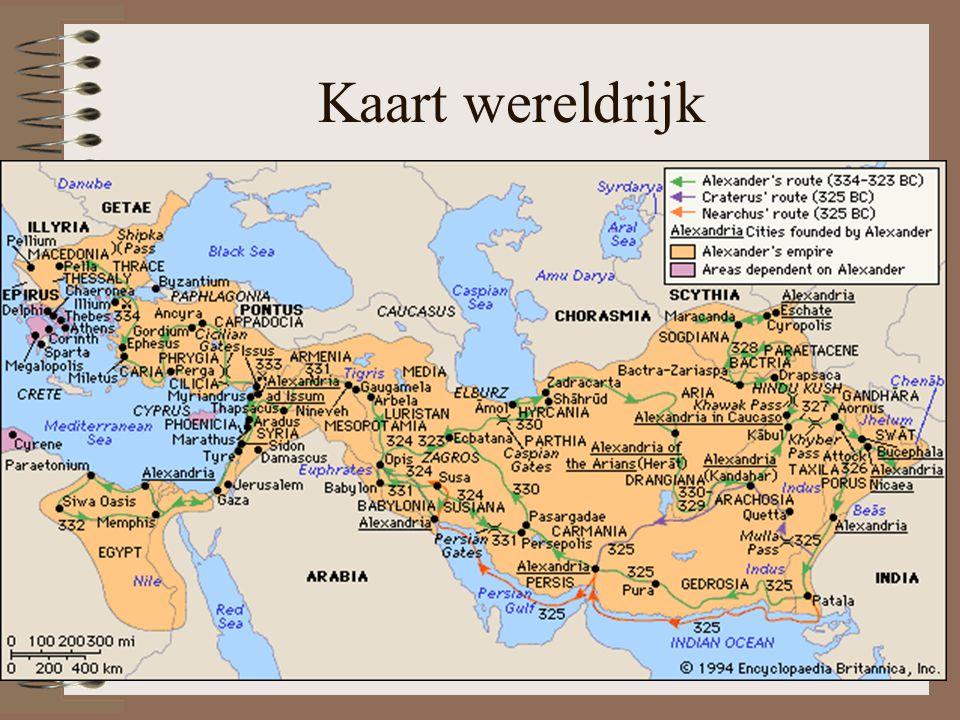 Kaart wereldrijk